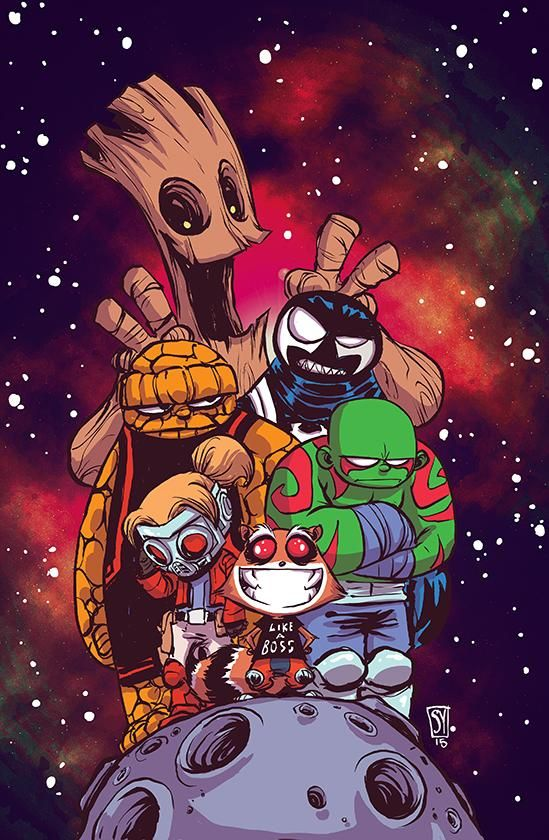 Guardians of the Galaxy #1 variant cover by Skottie Young *