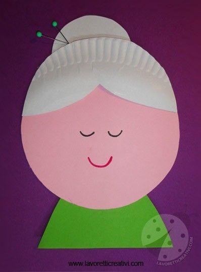 Il 2 Ottobre si celebra la Festa dei Nonni un'occasione per regalare alla vostra cara nonna un simpatico lavoretto da realizzare con i fogli di carta color