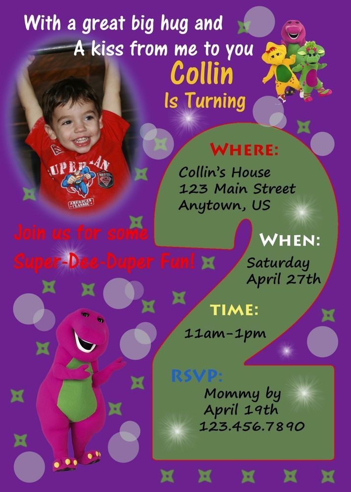 25 best Jaxon\'s 2nd Birthday images on Pinterest | Barney party, 2nd ...