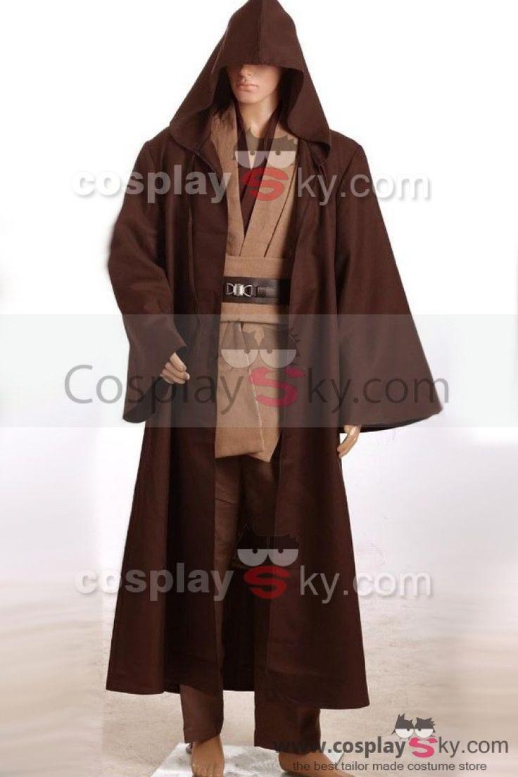 Star Wars Kenobi Jedi TUNIC Cosplay Costume Brown Version