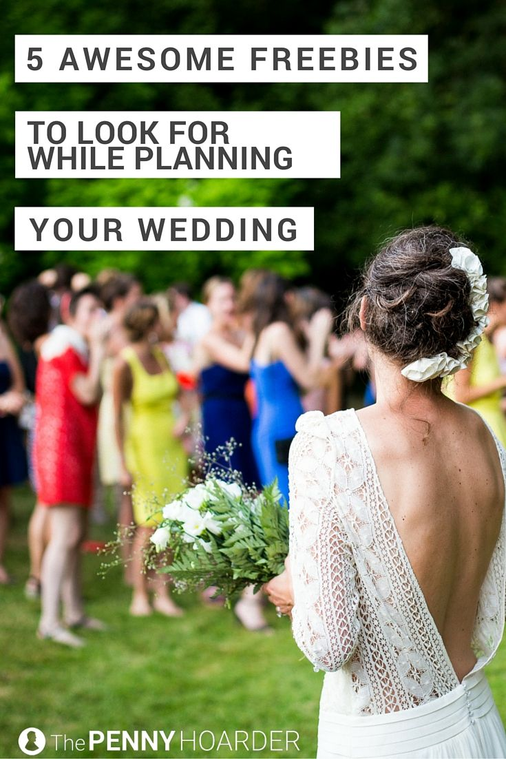 Your wedding day will probably be one of the happiest days of your life -- and one of the most expensive. Keep those costs in check with these five wedding freebies. - The Penny Hoarder http://www.thepennyhoarder.com/wedding-freebies/