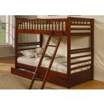 $374.00 Jackson Rich Walnut Twin Over Twin Bunk Bed - Coaster 460193