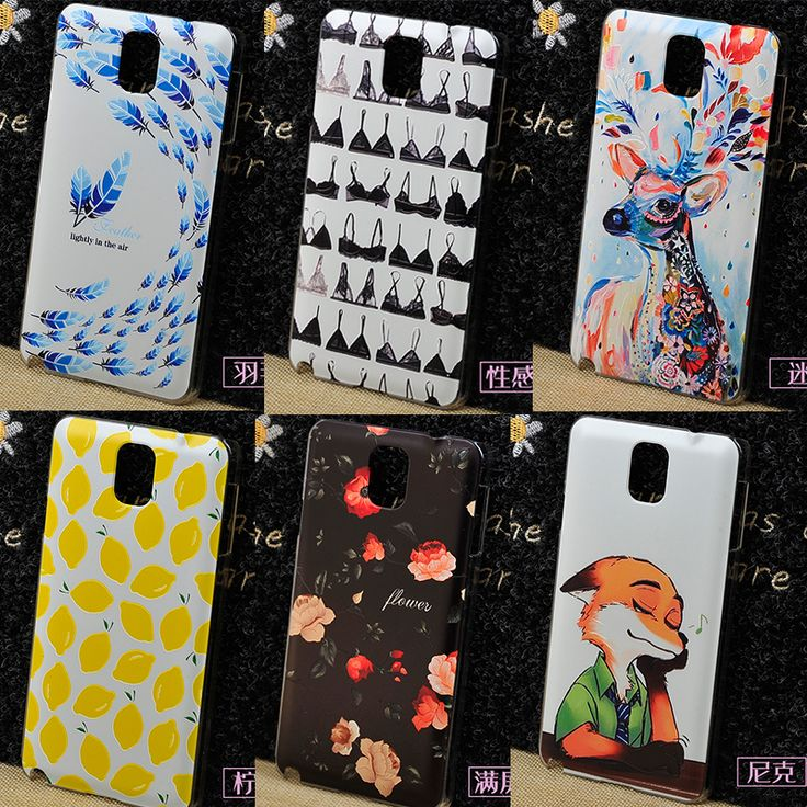 23 Styles 3D For Samsung galaxy note 3 Case Cover PC,Hard back Slim Cover For samsung note 3 III Phone cases 100%