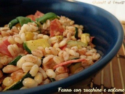 farro con zucchine e salame ricetta insalata fredda di farro