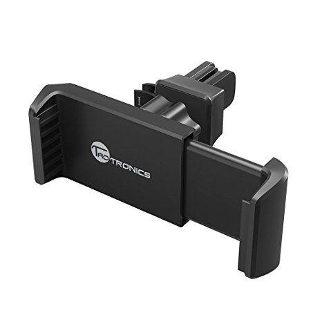 Handyhalterung Auto TaoTronics KFZ Halterung Lüftung Autohalter für Galaxy s6, s5, s7 edge, Iphone 6, 6s, 6s plus, 5, 5s Lumia, G5, Z6 usw. verstellbare Clips mit einer Hand eingestellt