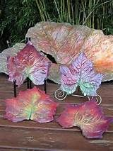 painting cement leaves - Yahoo Image Search Results
