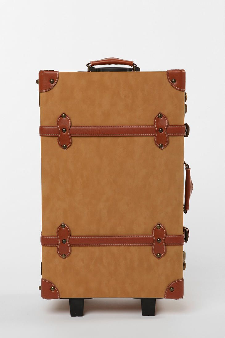 I think this is cool luggage...a throwback to the old times but updated...a trunk that rolls =)
