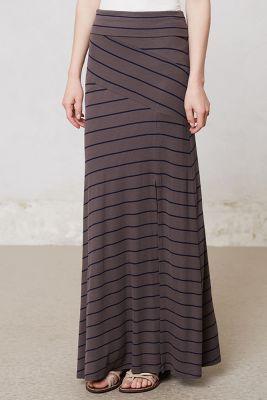 Bordeaux - Split Stripes Maxi Skirt @Anthropologie