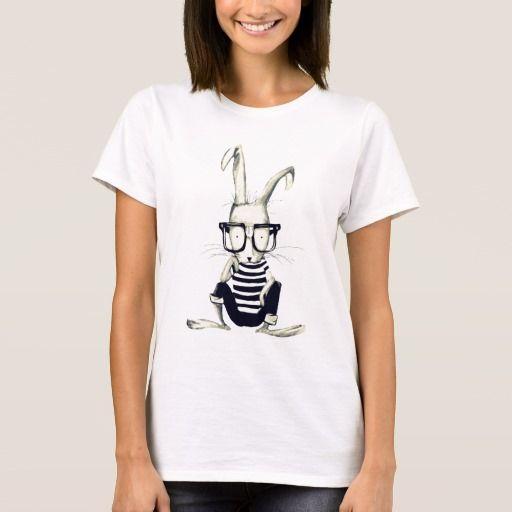 The Nerd Rabbit. Producto disponible en tienda Zazzle. Vestuario, moda. Product available in Zazzle store. Fashion wardrobe. Regalos, Gifts. #camiseta #tshirt #programmer #nerd #sheldon