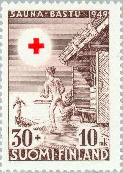 1949: Diving into the Lake After the Sauna (פינלנד) (Red Cross) Mi:FI 364,Sn:FI B97,Yt:FI 348,AFA:FI 371