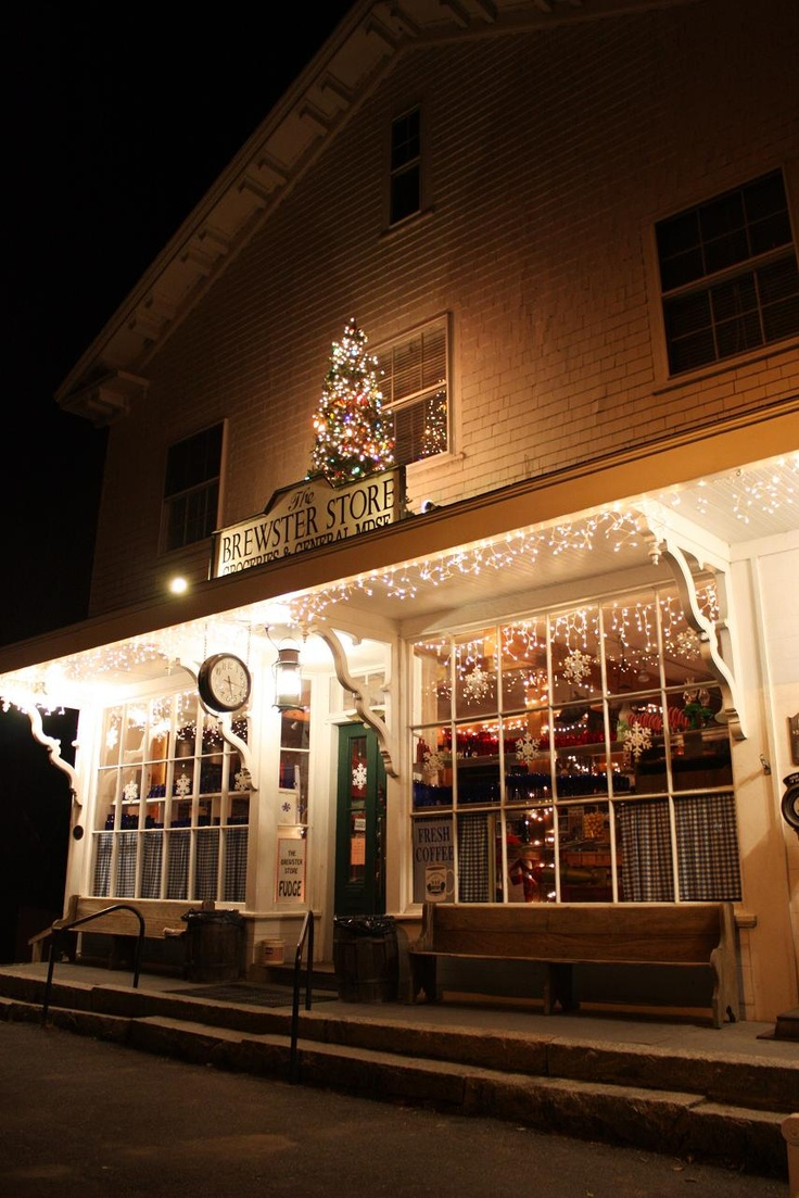 Brewster General Store at Christmastime; Cape Cod