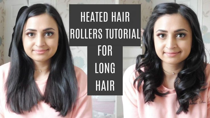 Babyliss Heated Rollers | Tutorial for Long Hair | Roshni Mistry