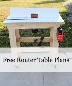 Free Router Table Plans.  This table is a snap to build.