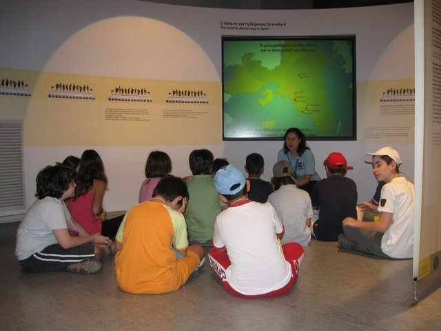 Educational Programmes - (http://www.hellenic-cosmos.gr)  Hellenic Cosmos presents educational programmes that are addressed to all people of all ages. These programmes have been specially designed     and are created by the Foundation's Museum Educators. They include a wide range of original and interesting activities on numerous issues     that have to do with the Greek and world cultural heritage and tradition.