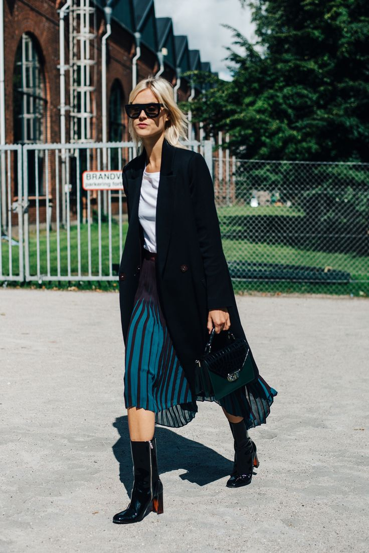 try a pleated layer under some fall essentials