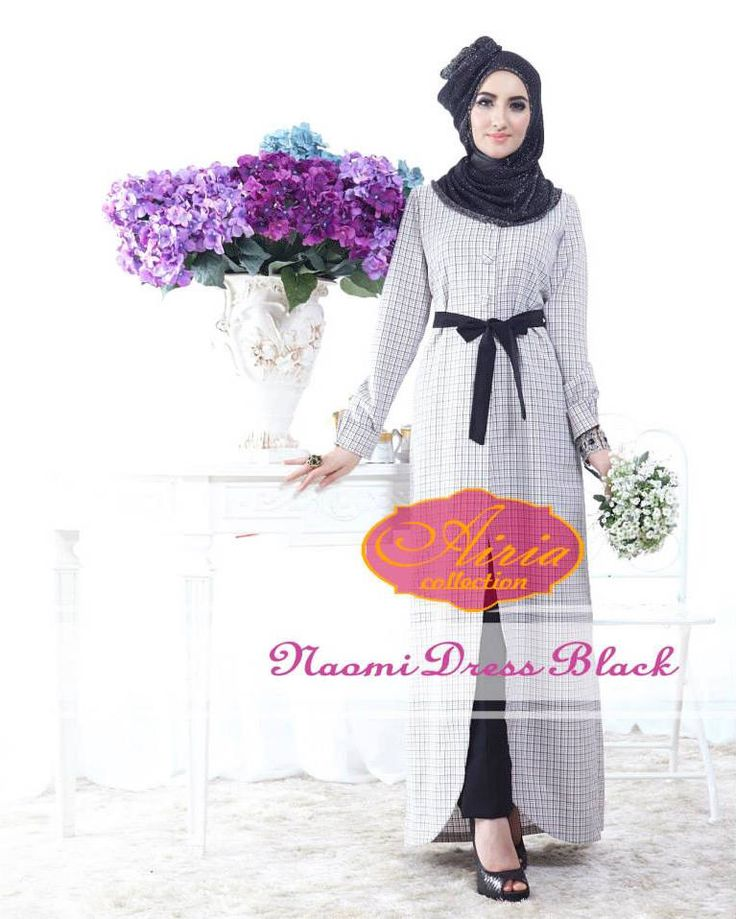 Naomi Dress Black http://gamismodern.org/naomi-dress-gamis-muslim-black.html