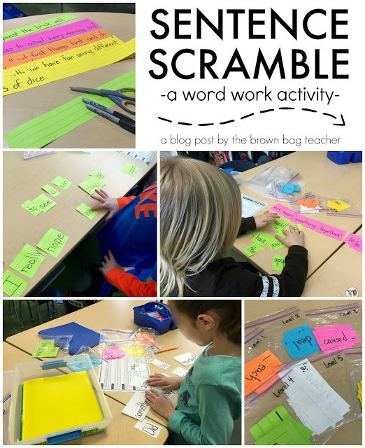 Word Work: Sentence Scramble can easily be adapted to high school