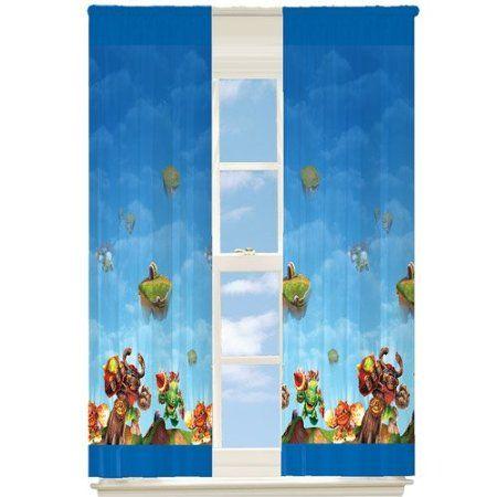 Skylanders Window Drapes