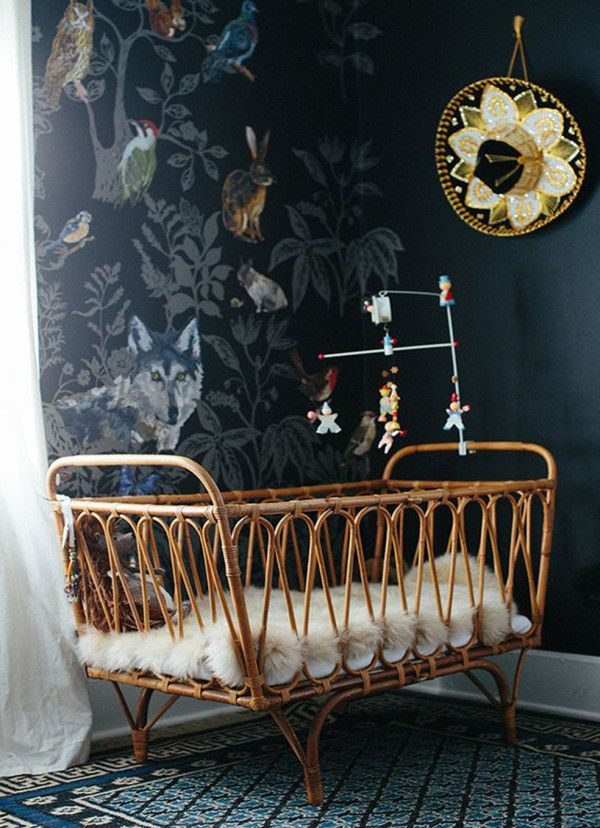 Rattan Crib - Nursery Design - Bohemian Chic - Interior Decor - Relaxed Aesthetic
