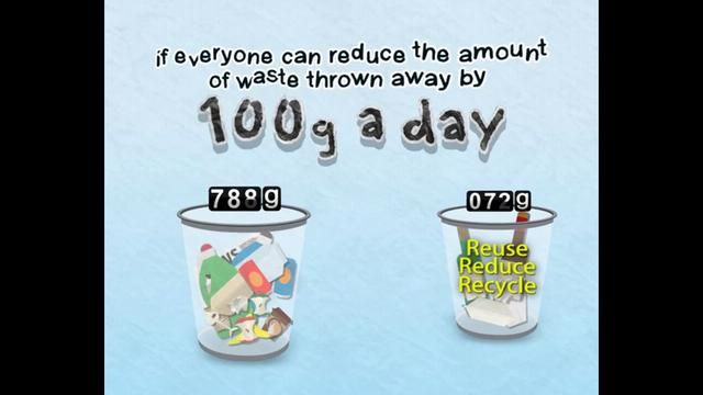 Waste Minimisation  With a whimsical touch but a serious message, this educational video emphasis the importance to reuse, reduce and recycle waste, and how our awareness