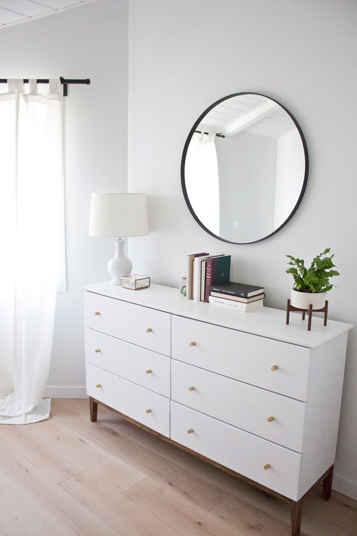 All white bedroom ikea - How To Make An Ikea Dresser Look Like A Midcentury Splurge