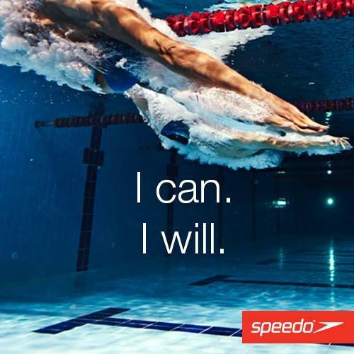 I can. I will! #Speedo #Swimming #Getspeedofit #Swim #Inspiration #Motivation #Swim