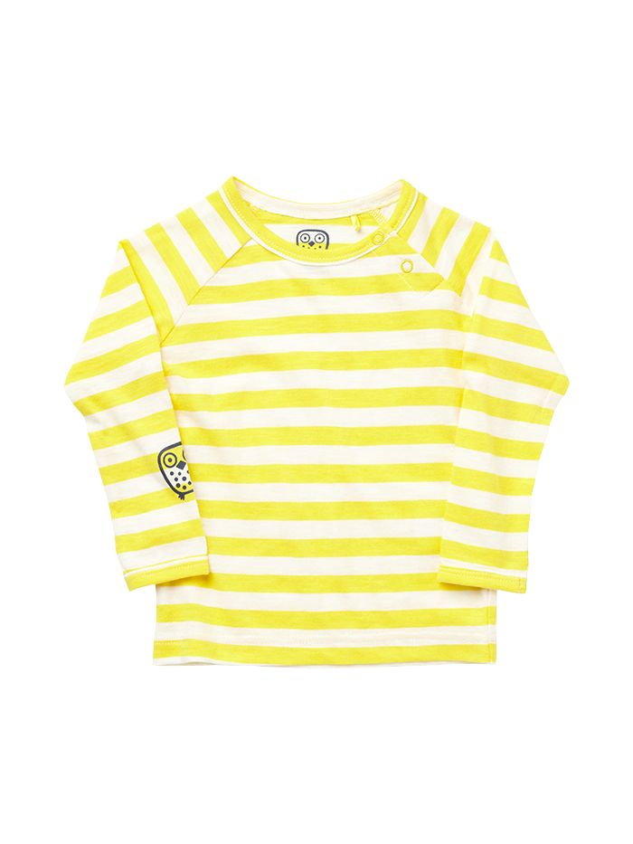 ej sikke lej Basic Striped T-shirt Yellow