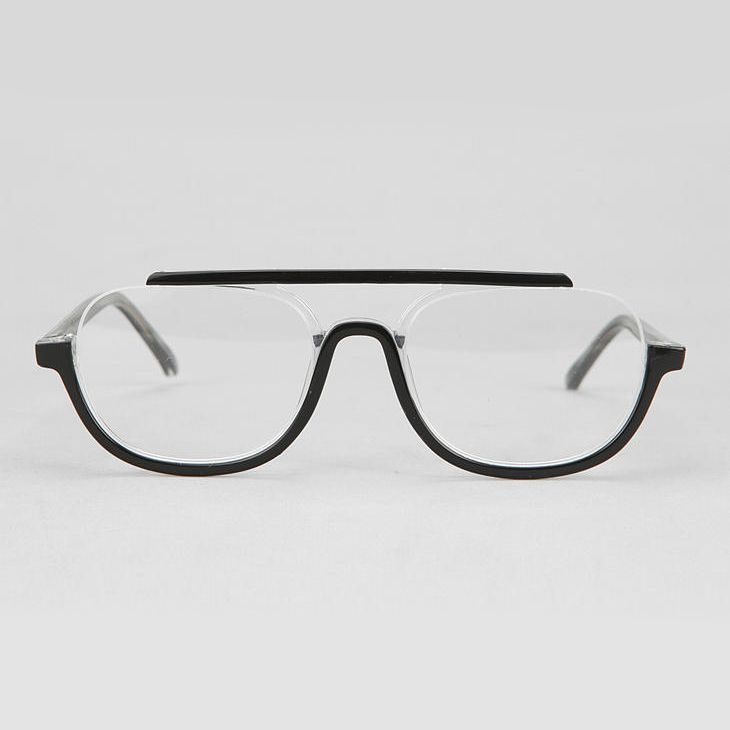 """enochliew: """" Regulus Aviator Readers by Ksubi Sleek cutout square frames topped with a bold contrast bridge. """""""