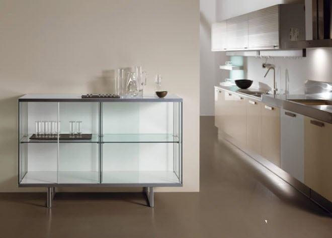 Credenza moderna / in legno laccato / in quercia / rivestimento in vetro temperato - BROADWAY by Bartoli Design - TONELLI Design