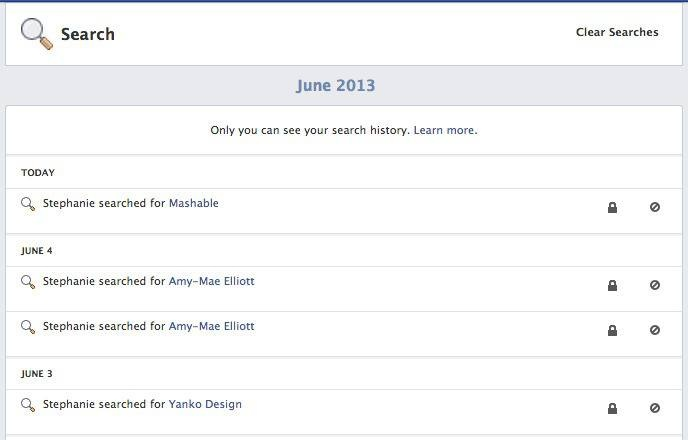 how to delete search suggestions on facebook