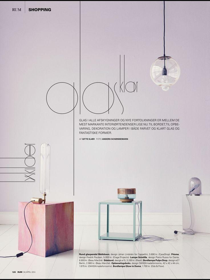 Danish Rum Interior Design Styling Magazine Pink