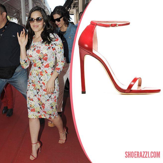 America Ferrera in Stuart Weitzman Nudist Ankle-Strap Sandals - ShoeRazzi