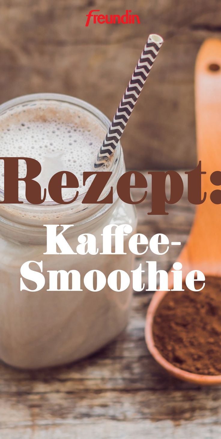 For more energy in the morning: coffee smoothie