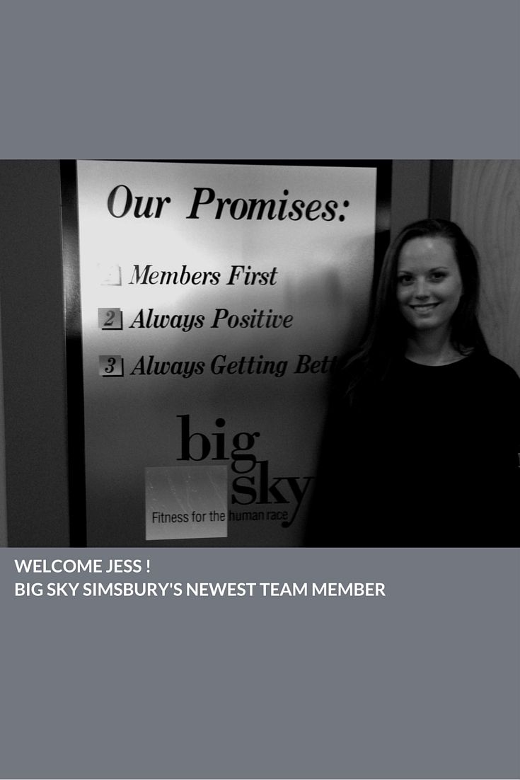 Welcome to Big Sky Simsbury's newest Team Member, Jessica! #fitness #alwayspositive #alwaysgettingbetter #bigskysimsbury