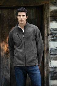 Promotional Products Ideas That Work: NEW PEAK MEN'S SWEATER FLEECE JACKET. Get yours at www.luscangroup.com