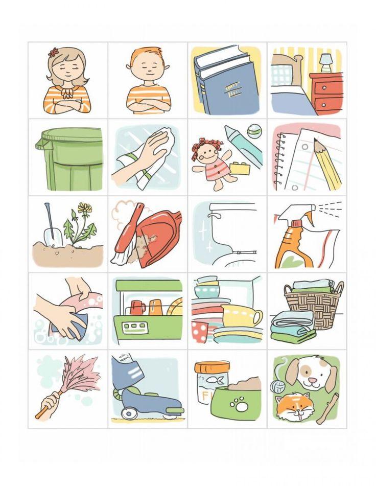 Повседневные дела – изображения для визуального расписания – АККП
