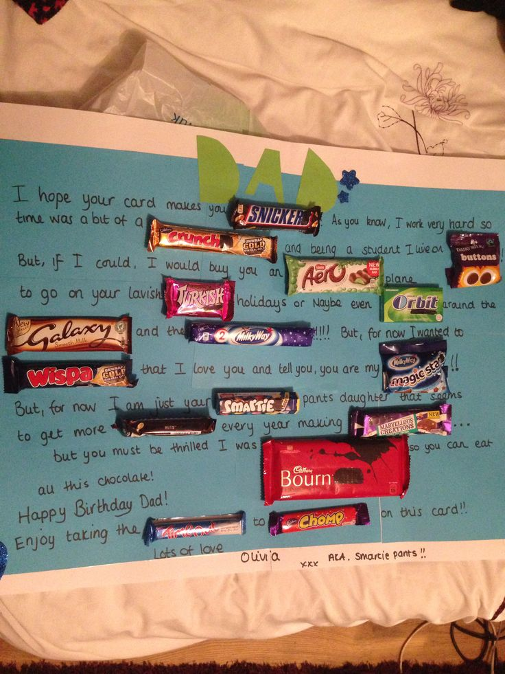 Dads chocolate birthday card! | Bits and bobs | Pinterest ...