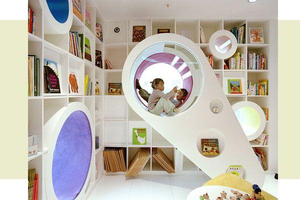 Café largo de ideas: Bibliotecas infantiles diferentes
