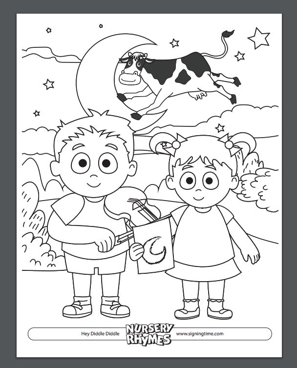 NEW Signing Time Nursery Rhymes Coming Soon Download This FREE Coloring Page And Pre