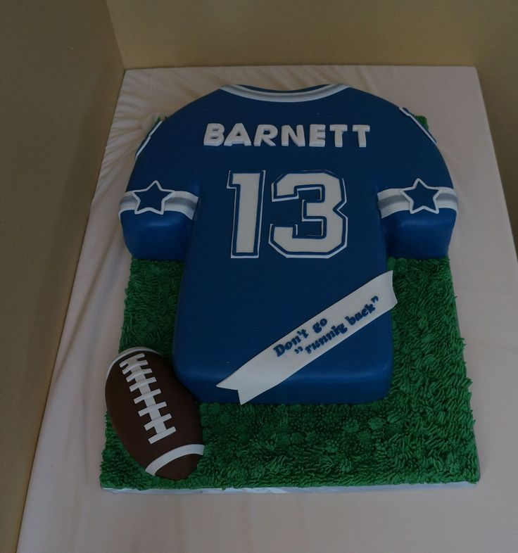 Dallas Cowboy Jersey Piece Of Cake Cakes Pinterest