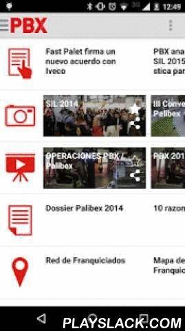 PBX Multimedia  Android App - playslack.com ,  Descubre Palibex gracias a su plataforma móvil o0o y accede a recursos impresos y audiovisuales que te ayudarán a conocer nuestra empresa logística de forma rápida y sencilla. Nuestra App te muestra las últimas noticias de PBX, nuestro canal de video, la galería fotográfica y el dossier corporativo, entre otros, y te permite compartir la información de nuestras redes sociales. Palibex es una Red especializada en el transporte exprés de mercancía…