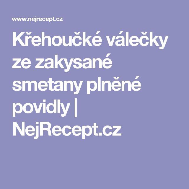 Křehoučké válečky ze zakysané smetany plněné povidly   NejRecept.cz