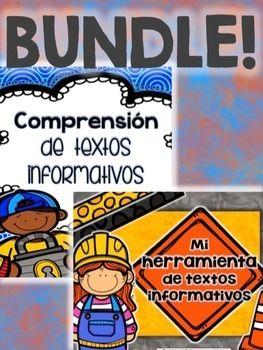 I have bundled my  Text Features - Comprensión de textos informativos & Herramienta de Textos Informativos/Text Features Tool Kit