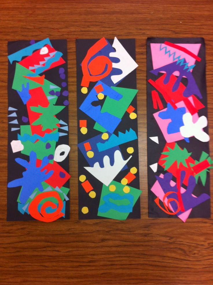 Drip, Drip, Splatter Splash- Matisse Cutouts great way to use all my paper scraps from the year!