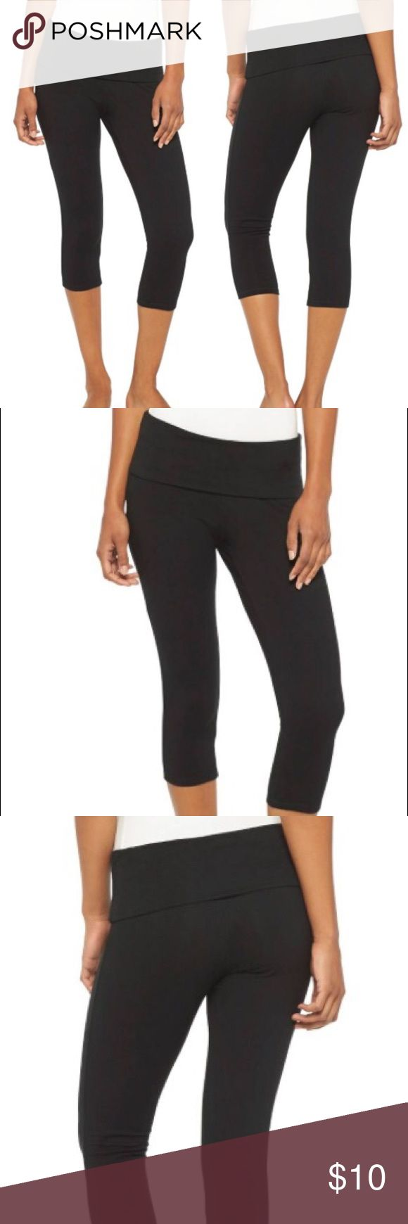 Mossimo fold over yoga capris Great capris for yoga or any work out. I have about 5 of these Mossimo Supply Co Pants Capris