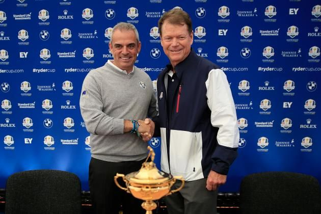 Tom Watson, Paul McGinley Put Contrasting Styles to the at Ryder Cup 2014 in 1 more day