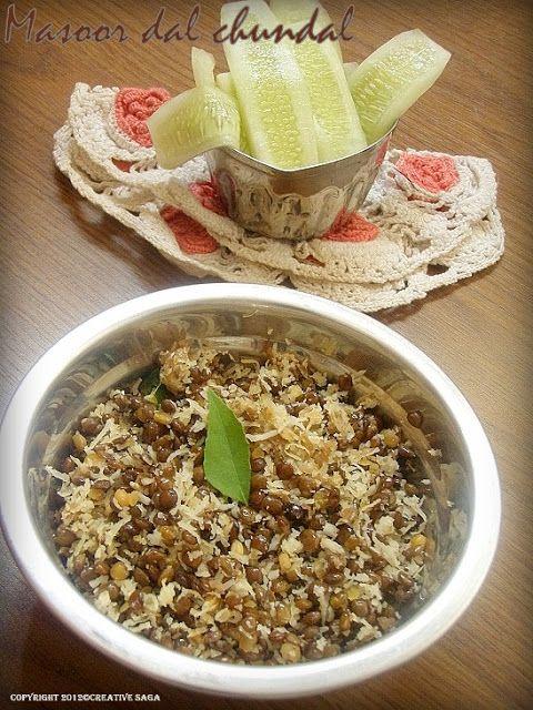 Whole masoor dal chundal recipe- Navaratri recipes