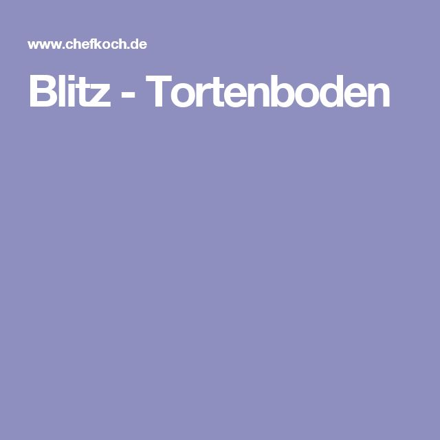 Blitz - Tortenboden