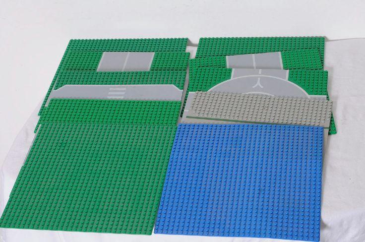 10 Pieces LEGO Assorted Platforms Building Base Plates Lot #LEGO