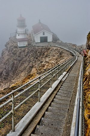 Point Reyes Lighthouse, CA  A familiar sight and quite a workout back up the steps!